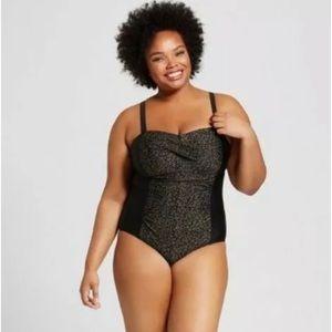 🆕 Ava & Viv Leopard Print One-Piece Swimsuit NWT